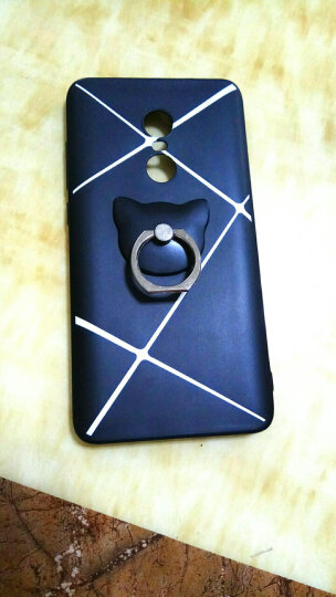 机伶猫 懒人支架/金属指环扣/手机支架/指环支架ipad 适用于乐视2/荣耀8/苹果安卓 猫头绅士黑 晒单图