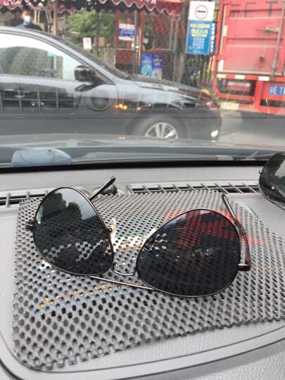 威古氏(VEGOOS)偏光太阳镜男经典飞行员蛤蟆镜开车驾驶墨镜女 3025M 银框水银片 标准码 晒单图