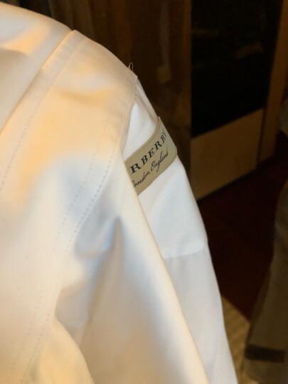 巴宝莉(BURBERRY)男装奢侈品衬衫棉府绸纯色长袖衬衣 白色8003067 180/L/16(16.5)码 晒单图