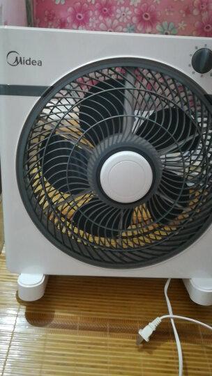 美的(Midea)家用节能定时电风扇五叶台式转页扇办公室学生宿舍静音台扇12寸落地扇风扇 KYT30-15AW 晒单图