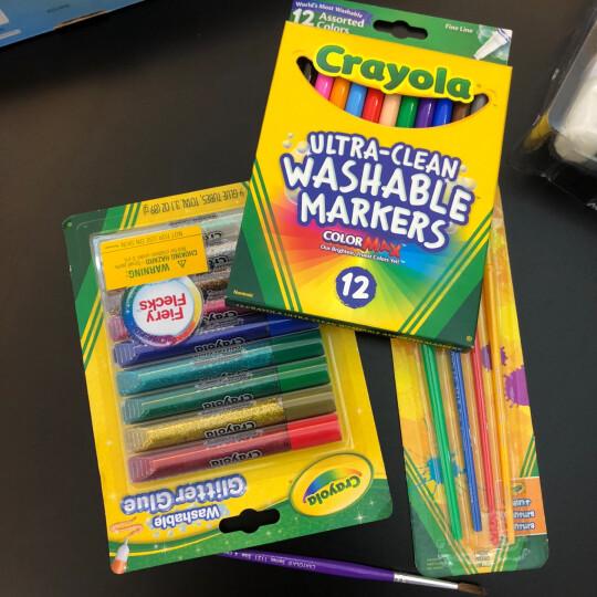 绘儿乐Crayola可水洗儿童diy玩具绘画工具 水彩笔蜡笔颜料调色盘画刷文具 绘画套装6件套JD-2016儿童礼物 晒单图