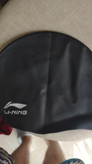 李宁 LI-NING 长发硅胶防水游泳帽 男女士泳帽LSJK808蓝色 晒单图