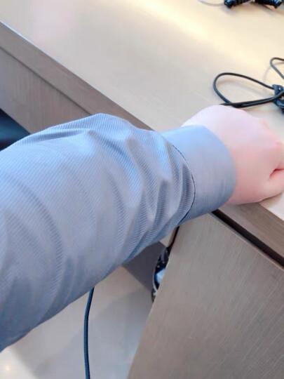 白衬衫男长袖修身免烫商务正装职业工作上班秋季伴郎西装衬衣白色 浅蓝色-无口袋 40 晒单图