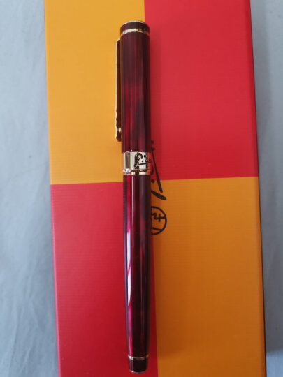 毕加索(pimio)宝珠笔签字笔女士商务办公成人学生用0.5mm绅士系列902玛瑙红 晒单图