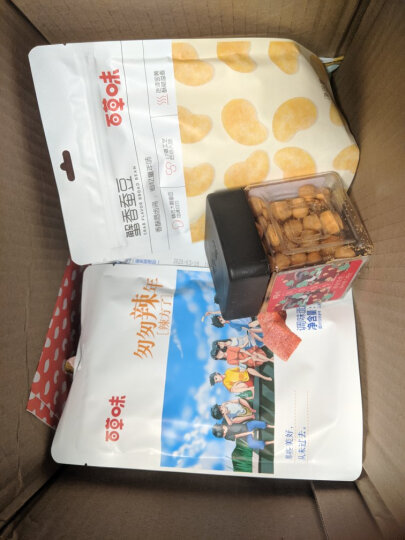 300减220_百草味 小米锅巴80g 休闲零食特产小吃香脆食品 MJ 麻辣味 晒单图