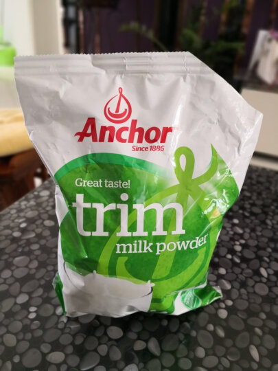 安佳(Anchor)新西兰原装进口 脱脂乳粉 成人脱脂奶粉 1KG袋装 晒单图