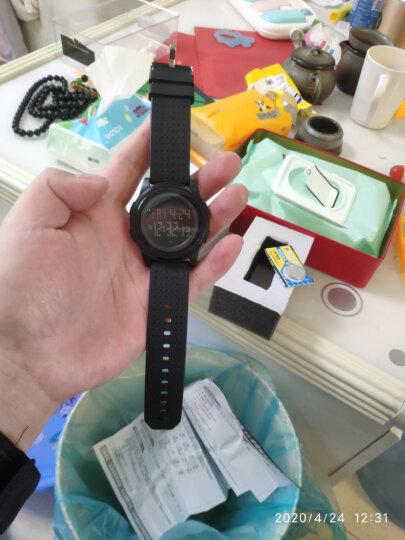 时刻美 skmei 手表男士运动休闲超薄夜光学生电子腕表 1206白色 晒单图
