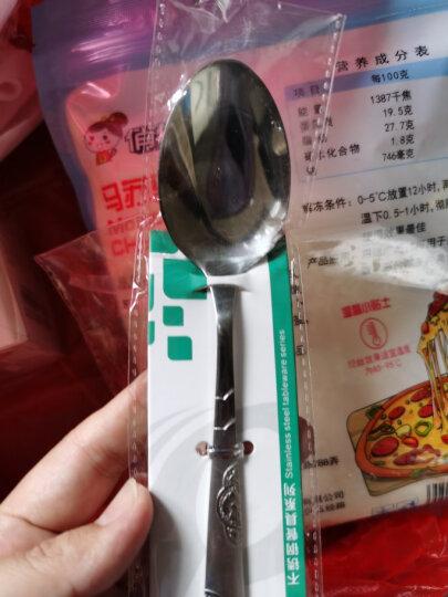 精达 不锈钢西餐餐具调羹小勺羹匙汤勺甜品勺饭勺 汤勺调羹6012(中) 晒单图