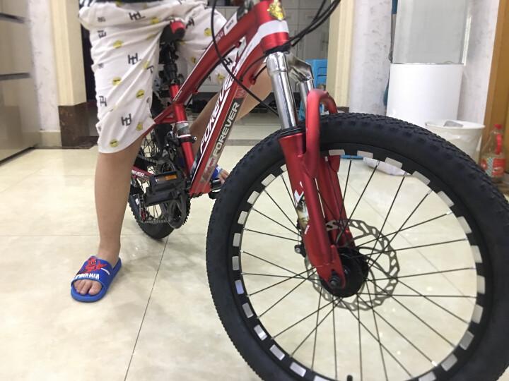 永久(FOREVER) 永久儿童自行车21速变速20寸山地车铝合金车架山地自行车街景型 消光红 20吋 晒单图
