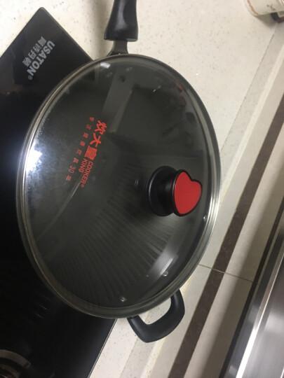 炊大皇 不粘锅 炒锅34cm炒菜锅无烟锅具 电磁炉燃气煤气灶明火通用 赠送木铲CKN4634BF 晒单图