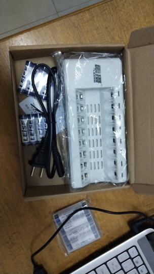 雷摄(LEISE)804智能快速充电器套装(配2节5号2700毫安电池+2节7号1150毫安+4槽充电器)适用:玩具/鼠标键盘 晒单图