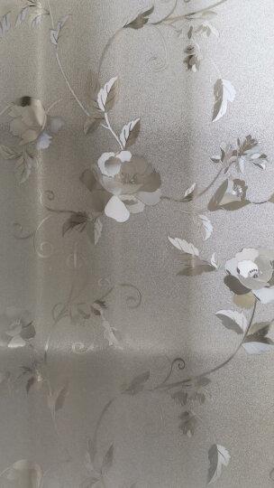 菲客玻璃纸静电玻璃贴膜墙贴画磨砂装饰浴室窗户贴纸移门宿舍窗贴透光不透明 3D牡丹花 45厘米宽X2米长 晒单图