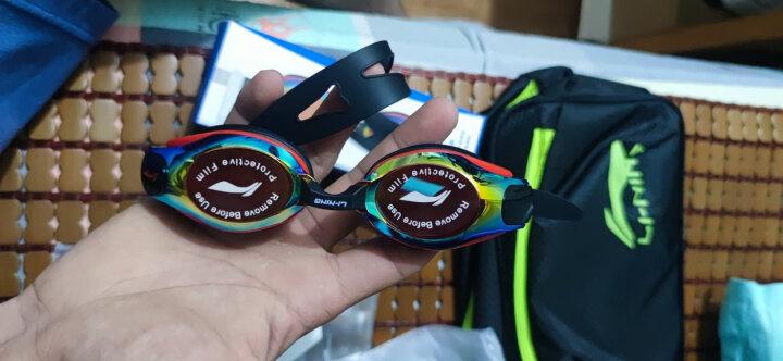 李宁 LI-NING 专业游泳及膝泳裤泳镜泳帽套组 时尚大气游泳装备套装  LSJK111 蓝XL 晒单图