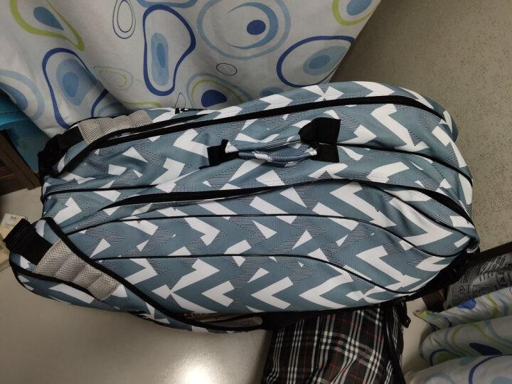 川崎KAWASAKI 羽毛球包运动包双肩包6支装独立鞋袋白红色 KBB-8662 晒单图