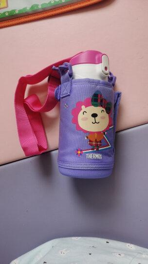 膳魔师THERMOS 儿童保温杯304不锈钢便携水杯(吸管+直饮+防尘盖)一杯多用水壶紫色550ml 晒单图