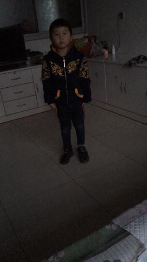 亚熙龙童装男童套装儿童套装加绒加厚保暖秋冬装外套裤子两件套中大童4-15岁品牌小孩衣服 藏蓝色 170/建议身高155-165cm 晒单图
