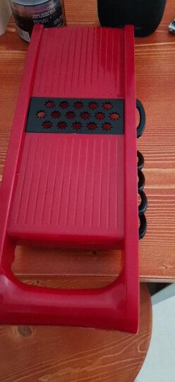美之扣 切菜神器多功能刨丝器 厨房用品家用手动切丝器切片器 萝卜土豆丝擦丝器(红色6刀装) 晒单图