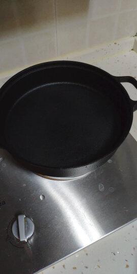 炊大皇平底锅加厚铸铁煎盘中式双耳煎锅26cm牛排煎锅电磁炉通用赠手套 晒单图