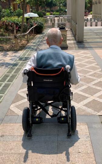 鱼跃(YUWELL)轮椅折叠老人代步车免充气轻便手动轮椅车加强铝合金H062 晒单图