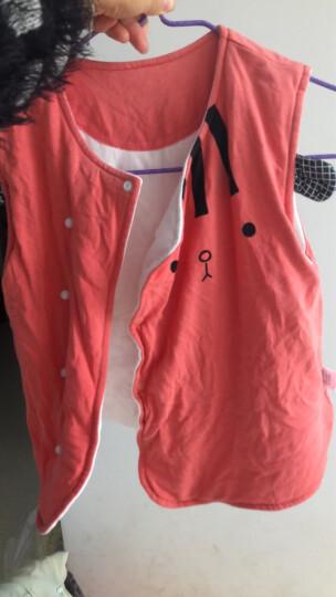南极人宝宝加厚夹棉马甲婴儿坎肩背心男女童秋冬装新款保暖外出服上衣 绿色对开菱形格 73CM 晒单图
