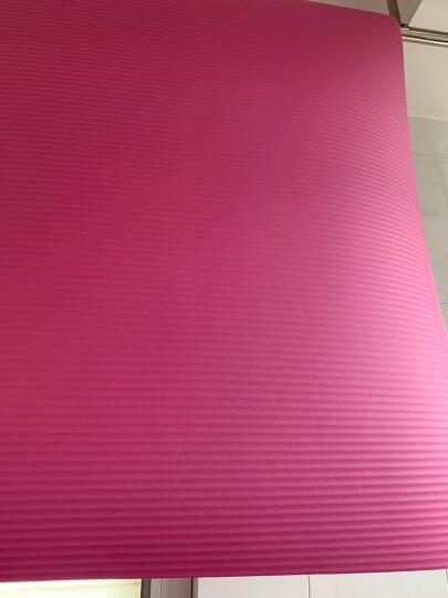 奥义升级瑜伽垫 男女185*80CM加宽加大加厚10mm专业健身垫防滑舞蹈垫 仰卧起坐运动垫 玫红(含绑带+背包) 晒单图
