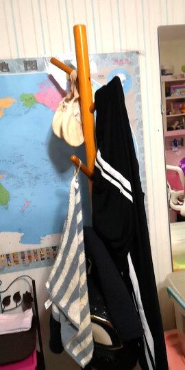 溢彩年华 实木衣帽架卧室衣架室内落地简易立式挂衣服架门厅挂衣架房间转角置衣架 55772-BU 晒单图