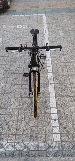 耐嘛26寸折叠21速双碟刹全避震轴承中轴一体轮山地车男女单车白蓝色 晒单图