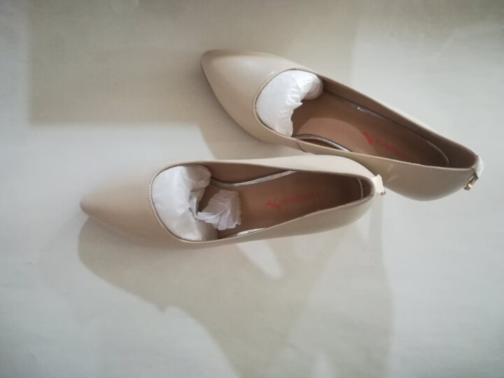 红蜻蜓女鞋春季新款高跟鞋女士单鞋浅口细跟黑色职业皮鞋女5073 黑色【5073偏大一码】 37 晒单图