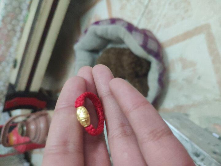 幸福久久本命年红绳手链女999足金路路通转运珠黄金戒指 戒指款 加大号转运珠约0.95克 晒单图