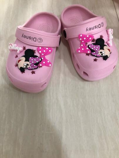 迪士尼 Disney 拖鞋 儿童凉拖鞋宝宝洞洞鞋防滑家居鞋099桃红16码内长16cm 晒单图
