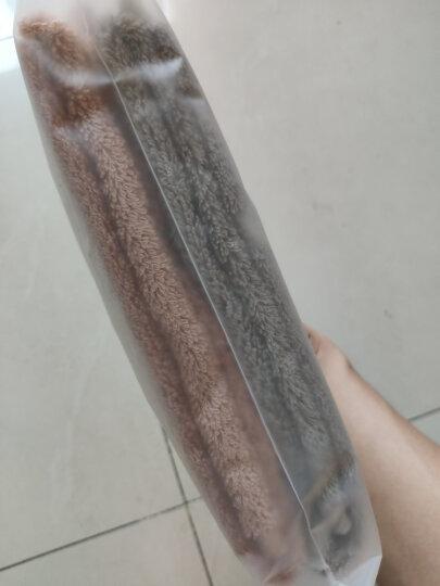 京造 埃及长绒棉毛巾 纯棉洗脸干发面巾 2条装(灰绿+肉粉) 晒单图