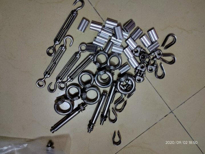 源生不锈钢 304不锈钢钢丝绳夹头 U型夹头卡头 钢丝绳配件 304不锈钢U型夹头   1只价 M5 晒单图