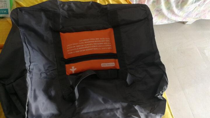 四万公里 旅行收纳包可套拉杆箱 便携式可折叠行李整理袋 男女 出差单肩手提大容量防水衣物袋 SW1014 橘色 晒单图