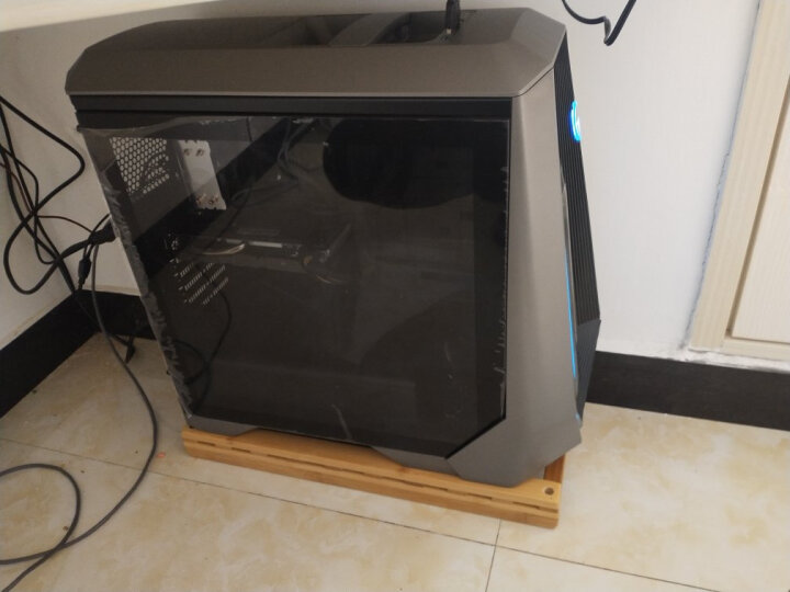 与竹同 楠木台式电脑主机托架网吧机箱托可移动主机架子万向轮置物架多功能简约主机架 大号(有挡板)长50 晒单图