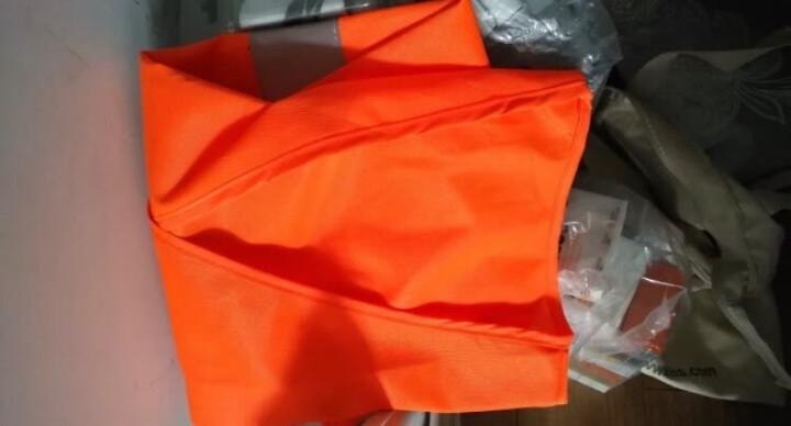 代尔塔旗舰店 荧光马甲 反光背心 梭织舒适透气带魔术贴404401 404402 橙色(反光条-2横) L 晒单图