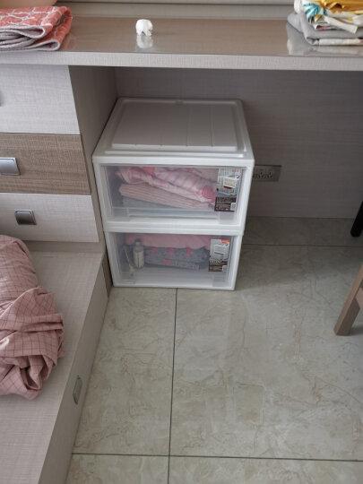 禧天龙Citylong 塑料收纳柜抽屉式单层可组合儿童衣物玩具储物柜抽屉柜2个装明白35L 5052 晒单图
