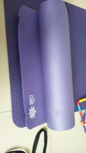 奥义 瑜伽垫185*80cm加宽加长高密度健身垫(赠绑带+网包) 加厚防滑运动垫 深紫色 晒单图
