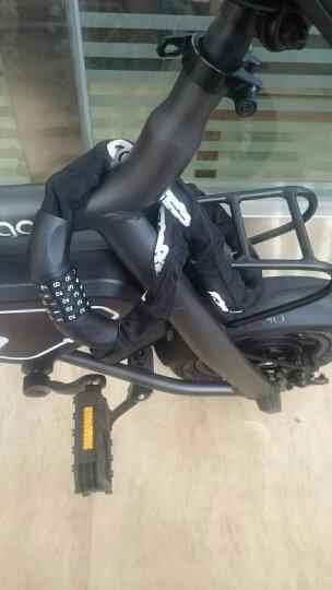 中立(ZOLI)85602 山地自行车死飞电动摩托车电瓶车锁 通用链条环形防盗锁加长布套锁 玻璃门密码锁 黑色 晒单图