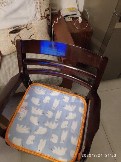 颂爱多功能小电热毯坐垫 双层小电热垫 办公室加热垫椅垫电暖垫 暖脚垫 毛毯垫子 加热电坐垫 晒单图