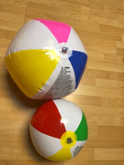 INTEX 59040儿童流行海滩戏水球玩具球沙滩球 透明充气球手球 颜色随机 晒单图