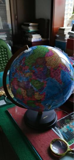 得力(deli)发光旋转地球仪 Φ32cm木座金属架 办公家居摆设 办公用品 3036 晒单图
