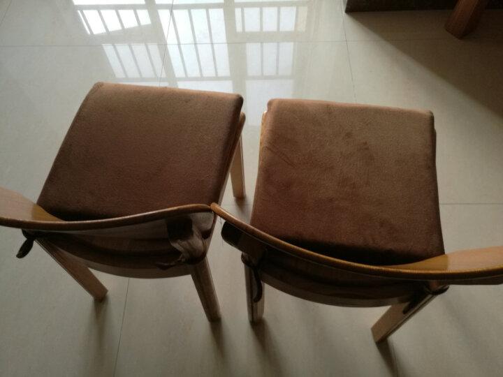 【苏之润】记忆棉坐垫办公室美臀屁股垫学生坐垫椅子餐椅垫汽车坐垫办公夏天透气四季双面加厚 (双面两用)咖啡色 40cm*40cm(带绑带) 晒单图