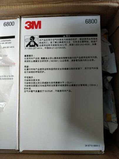 3M 防毒口罩面具全面型防护面罩(中号)6800  防有机蒸汽面罩喷漆防甲醛yzl 【6800酸性气体七件套】6800+6002 晒单图