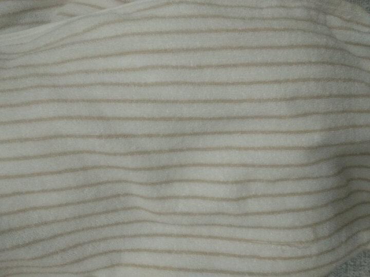 洁丽雅 纯棉浴巾 单条装 条纹6451成人大浴巾 蓝色 70*140cm 晒单图