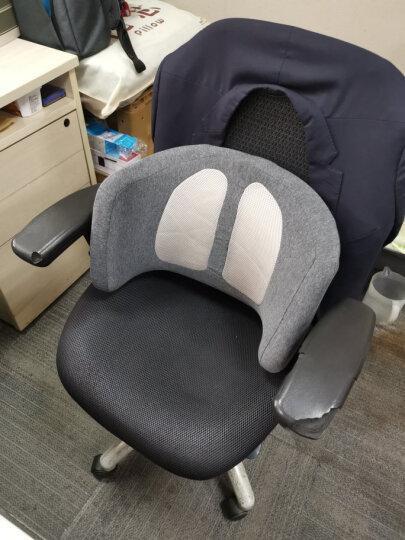 昕科加热护腰靠垫办公室座椅靠背垫靠枕记忆棉透气保暖腰托学生防止驼背 环抱腰靠-灰色 晒单图