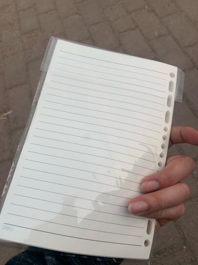 得力(deli)56k80张商务活页笔记本子文具 工作记事本皮面本办公文具 黑色3308 晒单图