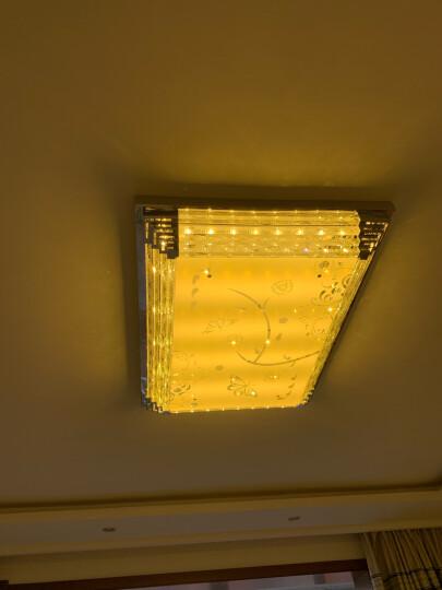 金幻LED吸顶灯客厅灯长方形水晶灯具套餐简约现代灯饰 蝴蝶客厅遥控调光120瓦95*70cm 晒单图