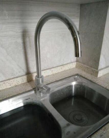 阿萨斯(ASRAS) 3051 304不锈钢厨房水槽水龙头 全不锈钢 水龙头 冷热 晒单图