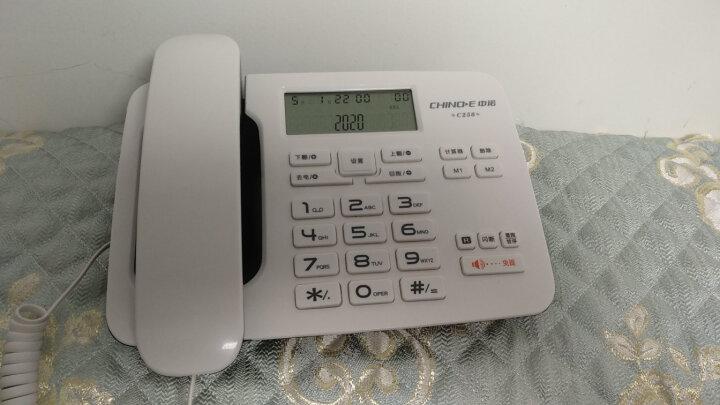 中诺 电话机 座机 固定 电话 有绳 板机  R键转接 免打扰设置 来电显示 C256白色 晒单图