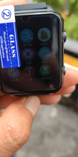 乐玛通(LOKMAT) 插卡儿童智能手表学生男女安卓电话手表手机无线wifi微信QQ下载应用定位视频 黑色(基础学生定位款+上课禁用+送16G内存卡) 晒单图